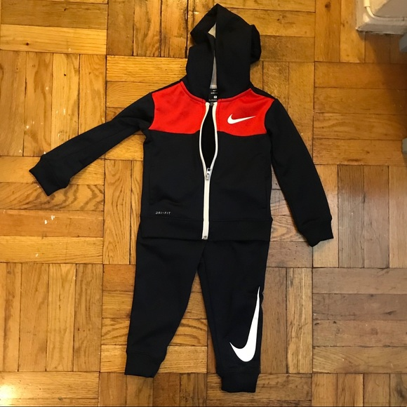 Nike Other - NIKE toddler Dri Fit track suit - red and black